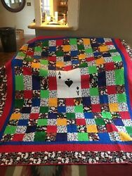 Customized Handmade King Size 91andrdquox107andrdquo Gamblers Quilt With 2 King Pillow Cases