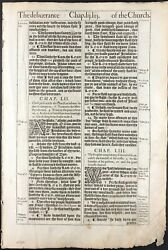 1611 King James Bible Leaf And039heand039 Isaiah 53 A Lamb To The Slaughter + Gutenberg
