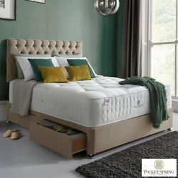 Pocket Spring Bed Company Mulberry Mattress And Fudge Divan With 4 Drawers