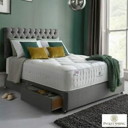 Pocket Spring Bed Company Mulberry Mattress And Grey Divan Super King