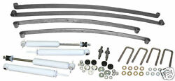 1948-52 Ford F-1 Truck Suspension Kit Mono Leaf Springs And Shocks 4-6 Drop