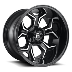 4 20x9 Fuel Gloss Black And Mill Avenger Wheel 6x135 And 6x139.7 For Ford Jeepandnbsp