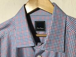 Men's David Donahue Dress Shirt 17 12 X 3435 Mint Condition