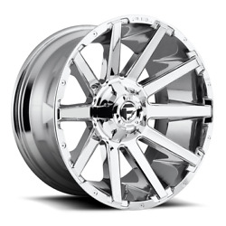 4 20x10 D614 Fuel Chrome Contra Wheels 6x135 And 6x139.7 For Ford Toyota Jeep