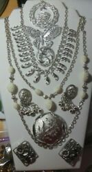 Vintage Sarah Coventry Silver-tone Jewelry Lot - Necklaces Earrings, Brooches