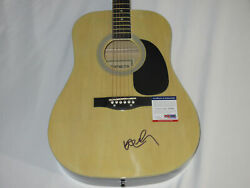 Willie Nelson Signed Acoustic Guitar Psa/dna Coa Y39345 Always On My Mind