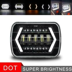 Black 5x7 7x6and039and039 Led Headlight Hi/lo For Chevy Express Cargo Van 1500 2500 3500