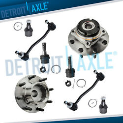 4wd/srw Front Wheel Bearing Hub Sway Bars Ball Joints For 99 Ford F-250 F-350 Sd