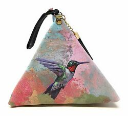 Value Arts Hummingbird Triangle Wristlet Clutch Purse $21.38