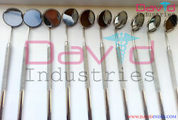 200 Pcs Size 5 Front Surface Top Quality Dental Mouth Mirrors With Handles