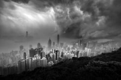 Fine Art Photography Print   Cold Front Moving In Hong Kong