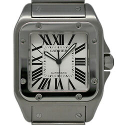 Cartier Santos 100 Large W200737G Stainless Steel White BoxPaperWarranty #1279
