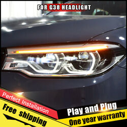 For Bmw 5 Series G38 Headlight Assembly Xenon Lens Double Beam Hid Kit 2018-2020