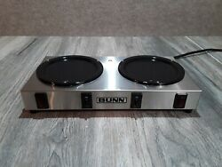 Bunn Coffe Warmer Model Wx2 Two Burner Commercial Restaurant Diner Dual Double
