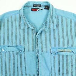 Vtg 90s Todays News Shirt Mens XL Faded Discolor Grunge Surf Skate Beach Striped $24.00