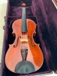 16 Full Size Viola With Case And Silver-mounted Pernambuco Bowandnbsp