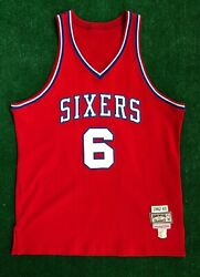 1982/83 Philadelphia 76ers Sixers Julius Erving Mitchell And Ness Auto'd Jersey 46