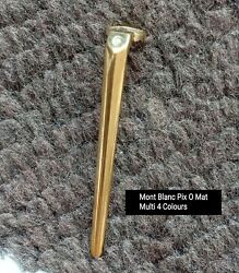 Mont Blanc Pix O Mat Multi 4 Colours Ball Point Pen Clip Use In Good Spare Part