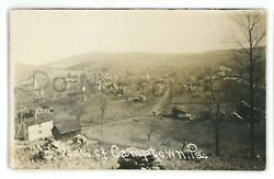 Rppc Aerial View Of Camptown Pa Bradford County Real Photo Postcard