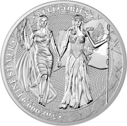 Germania 2019 25 Mark The Allegories Andndash Columbia And Germania 5 Oz 9999 Silver Coin