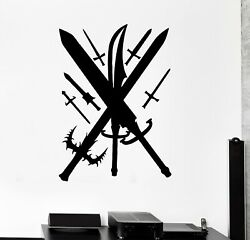 Wall Decal Swords Weapons Knives Army Knight Medieval Vinyl Sticker Ed1789