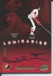 2015-16 Ud Team Canada Master Collection Autograph Bobby Orr Luminaries 54/99