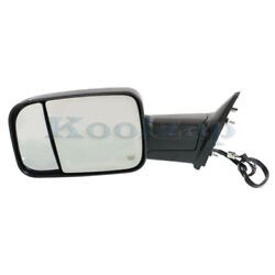 2012-12 Ram Truck Rear View Towing Mirror Power Heated W/signal Lamp Left Side