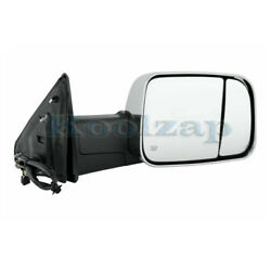 15-18 Ram 2500/3500 Tow Mirror Power Heat W/signal Puddle Lamp Chrome Right Side