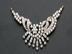 Christmas 2.12ct Natural Round Diamond 14k Solid Yellowgold Mangalsutra Necklace