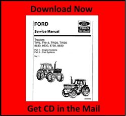 Ford Tw-5 Tw-15 Tw-25 Tw-35 Tractor Service Repair Manual Cd