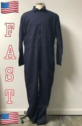 Navy 2x Saf Tech Flame Resistant Contractor Coveralls 7oz Indura Ultra Soft Hrc2