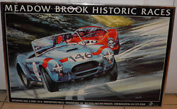 1985 Historic Meadow Brook Races Waterford Michigan Print 21x32 No Glass 20off