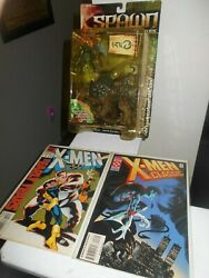 Spawn The Dark Ages - Iguantus And Tuskadon 1999 New And 2 X-men Comic Books Vg