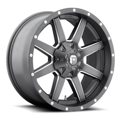 4 20x9 Fuel Anthracite And Milled Maverick Wheels 6x135 And 6x139.7 For Toyota