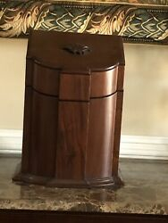 Late Georgian Antique Walnut Cutlery Or Knife Box, Cabinet With Sloped D Front