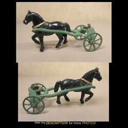 Antique Toy Kenton Cast Iron Horse And Front Wheels For Sand And Gravel Wagon