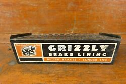 Vintage 1950andrsquos Original Grizzly Brake Lining Catalog Store Counter Display Sign