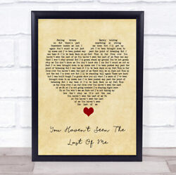 You Havenand039t Seen The Last Of Me Vintage Heart Song Lyric Quote Music Print