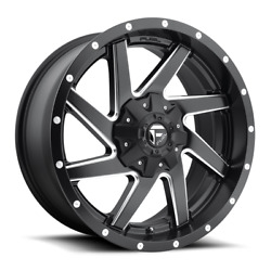 4 20x10 Fuel D594 Black And Mill Renegade Wheels 6x135 6x139.7 For Toyota Jeep