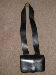 Antique Military Us Leather Military Pouch R.white Us Ord. Dept Sub Inspector'