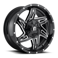 4 20x9 Fuel Gloss Black And Mill Rocker Wheels 6x135 6x139.7 For Toyota Jeep
