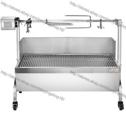 Stainless Steel 89cm 60kg Bbq Charcoal Pig Spit Roaster Rotisserie Barbeque