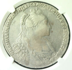Russia Empire Anna Ioannovna Silver Coin 1 Rouble 1735 NgС Vf30 473