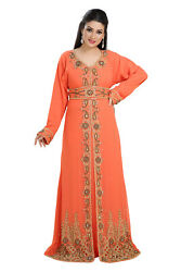 Oman Maxi Dress Henna Party Lawn Gown Cocktail Party Byzantine Ladies Boho 7730