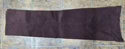 Corduroy Care Apparel Flat Front 4 Pocket Made Usa Snap/zip Poly/cotton 40 X 32