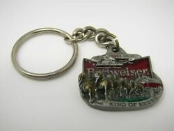 Vintage Budweiser Keychain 1991 Clydesdale Wagon 1318 Made In Usa