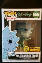 Funko Pop Rick And Morty Hologram Rick Clone 666 Hot Topic Exclusive