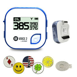 Golf Buddy Voice 2 Gps/rangefinder Bundle With 5 Ball Markers And 1 Hat Clip