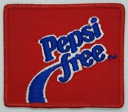 Pepsi Free Embroidered Iron On Uniform Patch 1982-87 Soda Cola Advertising