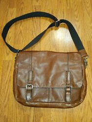 Fossil 16x13 Messenger Bags Classic Brown EUC $39.99